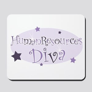 """Human Resources Diva"" [purpl Mousepad"